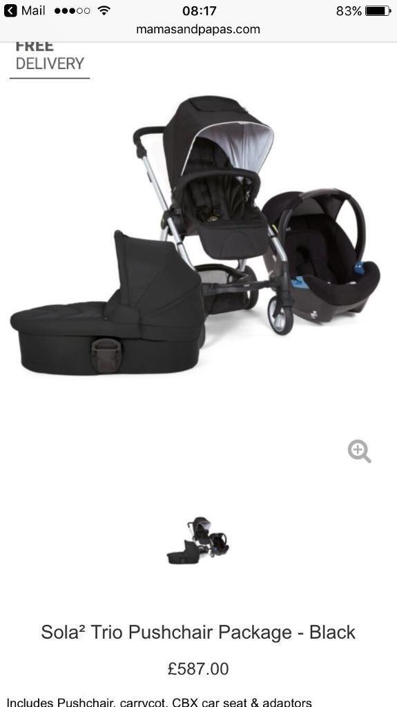 Mamas and papas sola 2 package travel system | in Port Talbot, Neath