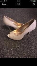 Size 5 glittery heels