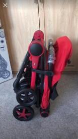 MiinMo pushchair pram. Red. Brand New in Box