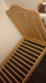 Pine cot/junior bed excellent condition