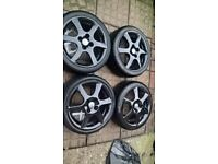 alloy wheels 4x100 tyre size 205x40R16 for sale