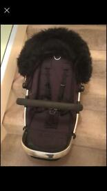 Icandy peach seat unit with fur hood