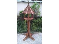 Handcrafted rustic Octagonal bird table