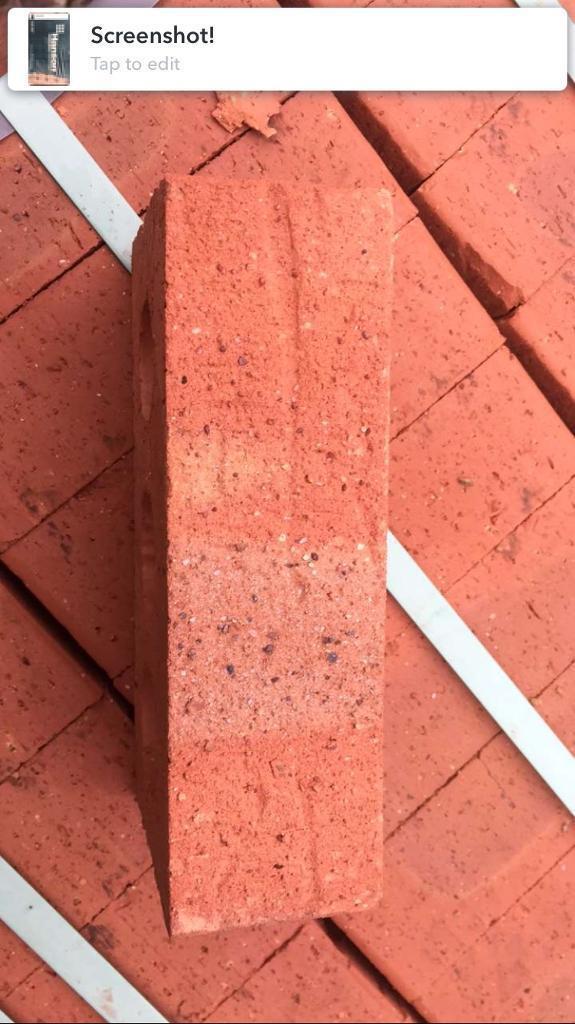 Building bricks, Hanson Worcester red, 65mm