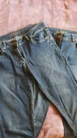 2x Skinny Jeans size 12