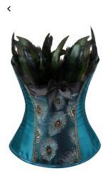 Ladies size 8 to 10 peacock corset