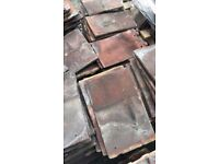 1920's Hand Made Reclaimed Clay Roof Tiles - 7000 tiles, 70 hips and 150 eaves on pallets