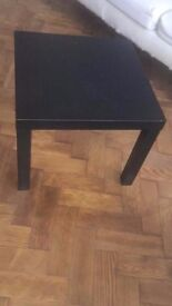 Ikea small square black side table work kids children House Clearance
