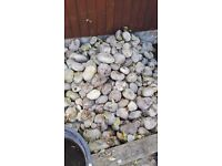 Decorative cobble stones. About 15 bags, used. Very heavy. Collection only. £20 the lot