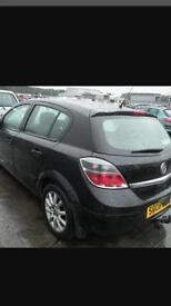 Vauxhall Astra mark 5 breaking salvage parts black 2005 2006 2007 2008 2009