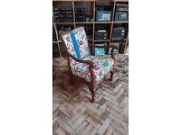 Antique re-upholstered chair in Laura Ashley fabric