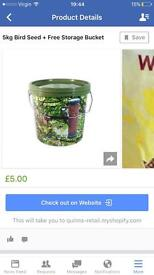 Wild Bird Seed + Free Storage Bucket