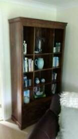 Solid dark wooden bookcase