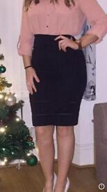 Black midi skirt size 6