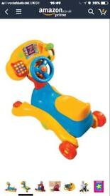 V tech ride and go ride on baby toddler