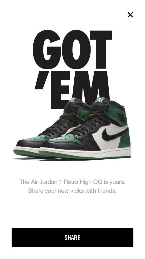 a3efc1c97a4cbe Nike Air Jordan 1 OG Pine Green UK 10.5