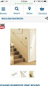 RICHARD BURBIDGE PINE ROUND STAIRCASE HANDRAIL KIT UNFINISHED 3600MM (73088)