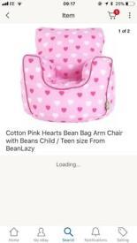 Bean bag child arm chair