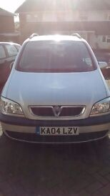 7seat VAUXHALL ZAFIRA, 2.2. MOT until August 17, Spares, repair. Starts and drives. Silver.