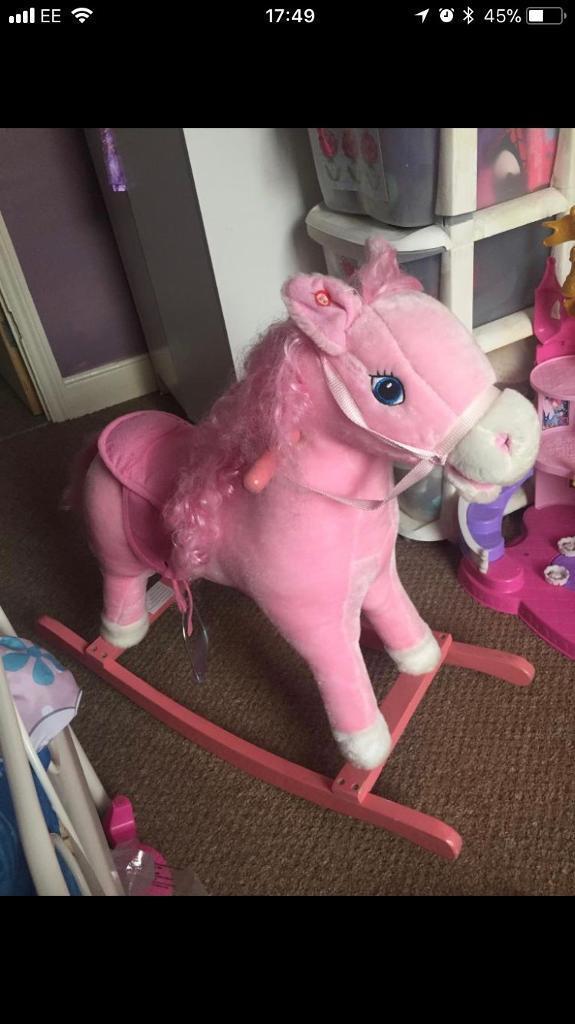 Singing rocking horse for sale