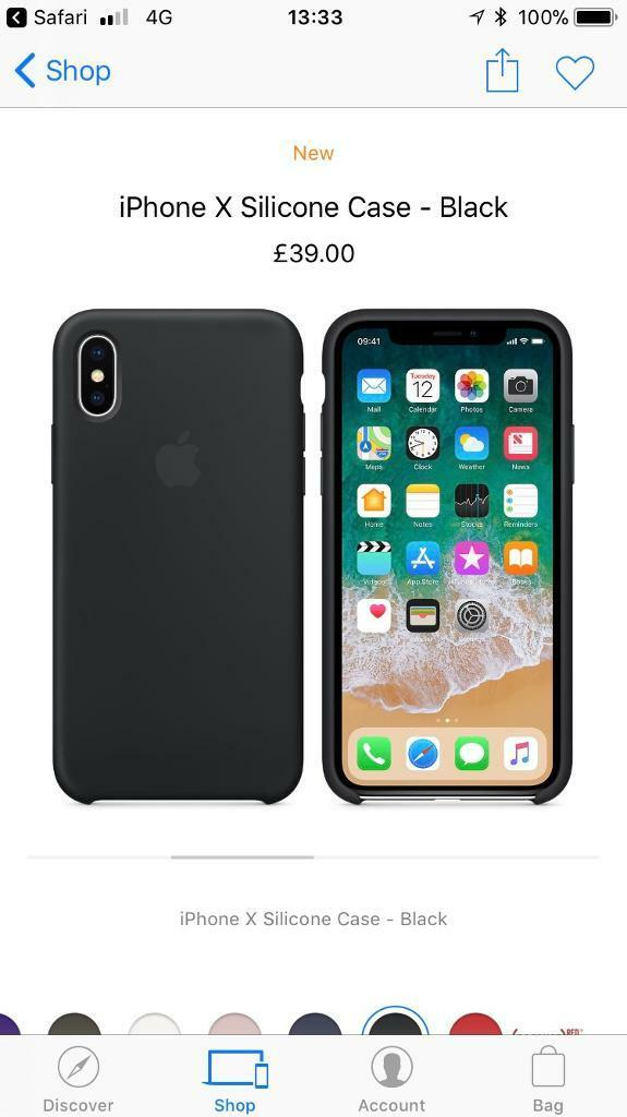 Apple iPhone X silicone case, black