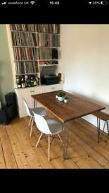 Amazing solid tables, desks, coffee tables with hairpin legs