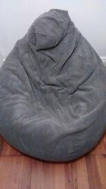 Big grey bean bag (pouff) from GILDA