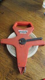 Rabone Chesterman vintage surveyors 164ft tape measure