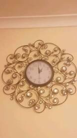Black gemed clock