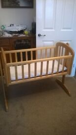 baby swinging crib from mothercare and mattress