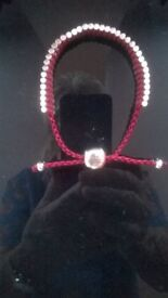 Sterling silver corded bracelet