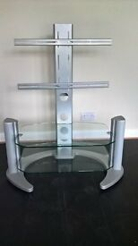 Quality heavyweight Toughened Glass/Steel TV Media Stand