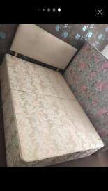 1 DOUBLE SIZE BED/with MATTRESS