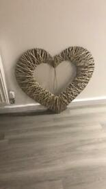 Rattan Heart Decoration
