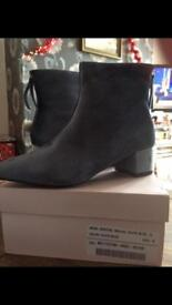 slate blue boots brand new