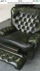 Wingback chesterfield recliner