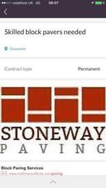 Skilled block pavers /Tarmacers /resin bound skilled men
