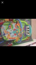 Fisher price kick piano play mat