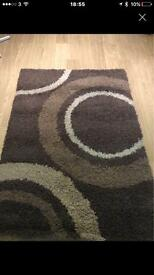 A lovely Pattern Brown Rug