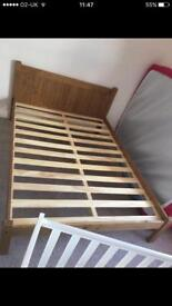 Double bed wood