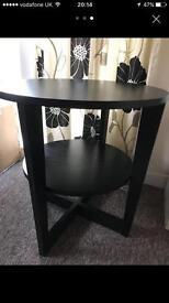 Ikea round black table