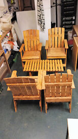 Four Chairs and low table
