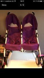 Dolls Twin buggy