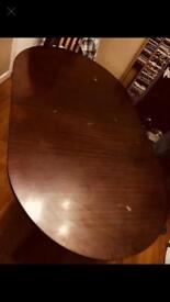 Beautiful STAG mahogany extendable oval table