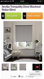3 beautiful grey blackout blinds
