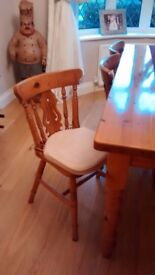 PINE FURNITURE, DINING ROOM TABLE & CHAIRS, COFFEE TABLE, DRESSER, SIDEBOARD, SIDE TABLE.