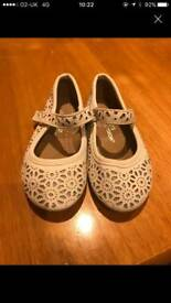 Cream sparkly shoes