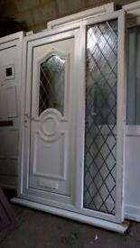 upvc door and side panel in very good condition with keys 54inch wide x81inch high call 07498143887