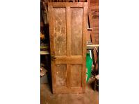 Pine interior wood door