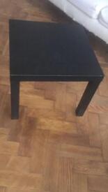 Ikea small square black side table work kids children